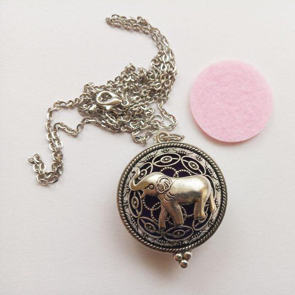 Aromaterápiás illatos függő charm fityegő illóolaj elefánt lánc