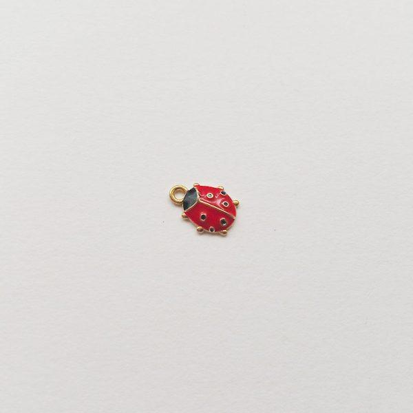 Extra függő állat pöttyös katica charm fityegő