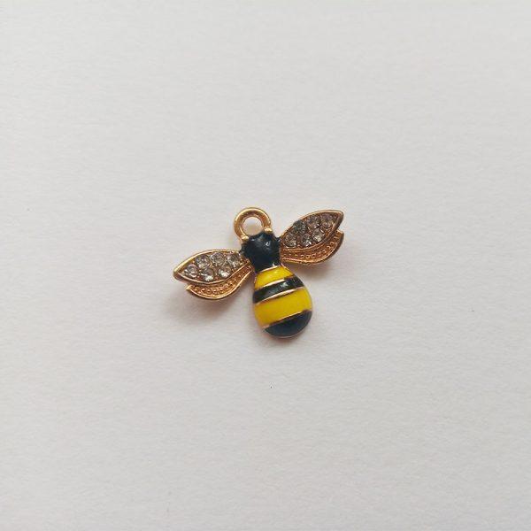 Extra függő állat méhecske méh strasszos charm fityegő