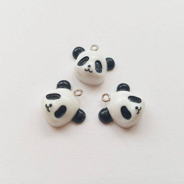 Extra függő állat panda fej maci charm fityegő