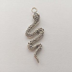 Fém függő ezüst színű kígyó kis herceg charm fityegő hüllő