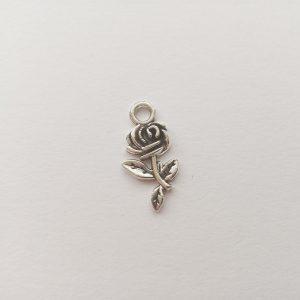 Fém függő ezüst rózsa virág charm fityegő kis herceg növény