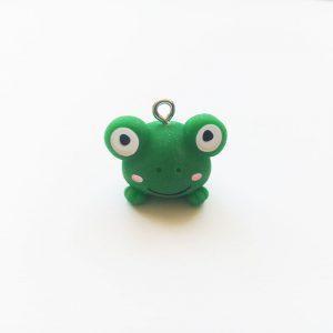 Extra függő fityegő charm állat kétéltű zöld béka