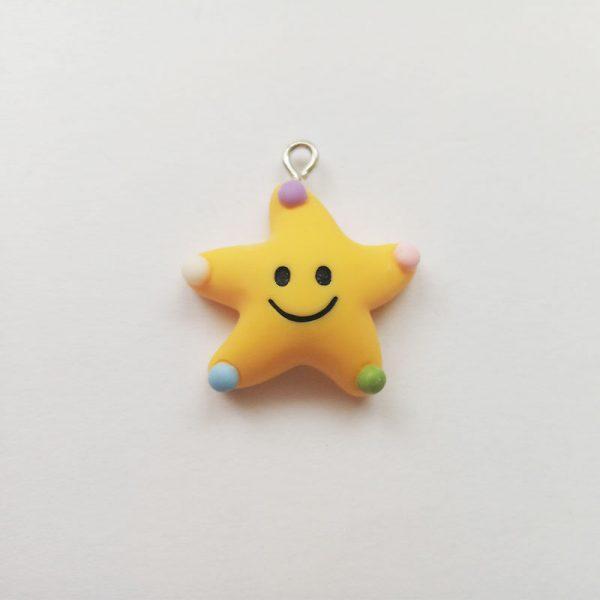 Extra függő csillag mosolygó charm fityegő mese