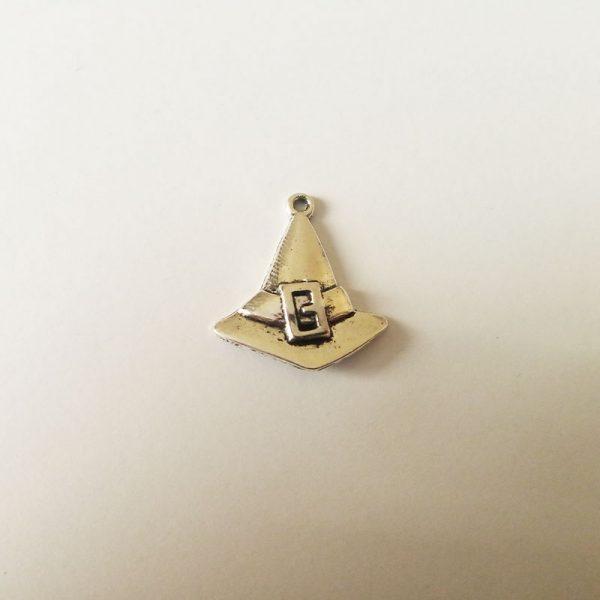Fém függő fityegő charm ezüst kapal varázsló varázslat varázslókalap mágia