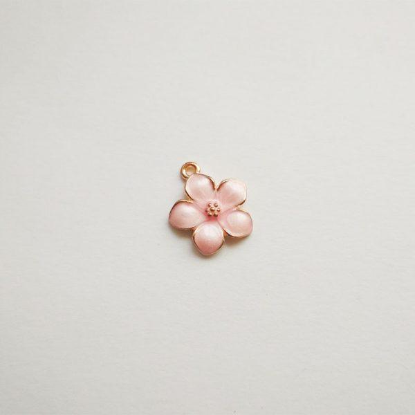 Rosegold virág charm rózsaarany fityegő függő növény